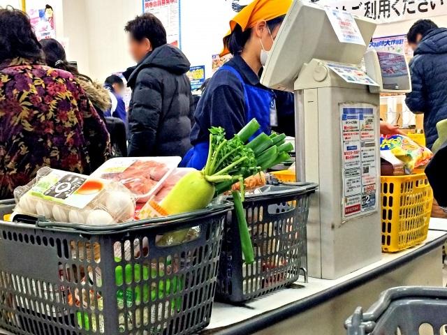 スーパーのレジ
