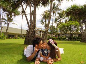 家族でキス